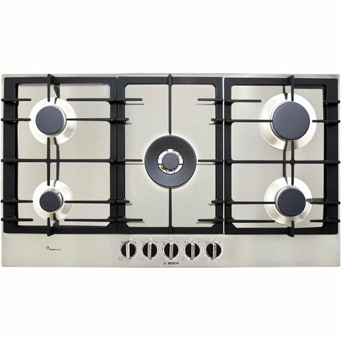 Bosch PCR9A5B90 Serie 6 Built In 92cm 5 Burners Gas Hob Stainless Steel