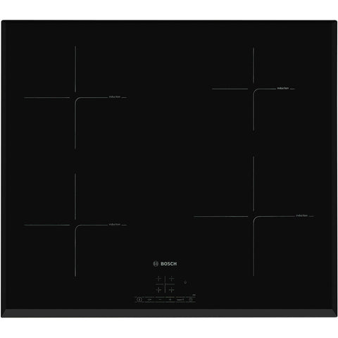 Bosch PIE651BB1E Serie 4 59cm 4 Burners Induction Hob Touch Control Black