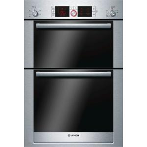 Bosch Logixx HBM56B551B Built-In Double Electric Oven, Brushed Steel