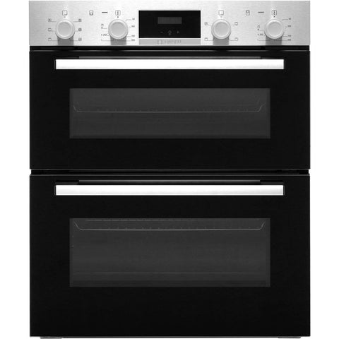 Bosch NBS113BR0B Serie 2 Built Under 59cm A/B Electric Double Oven Stainless