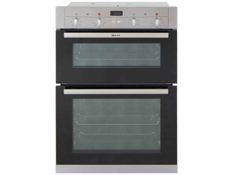 NEFF U12S53N3GB Built In Double Electric Oven - Stainless Steel
