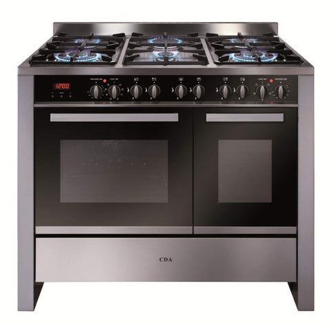 CDA RV1002SS 100cm Wide Double Oven Dual Fuel Range Cooker Stainless Steel
