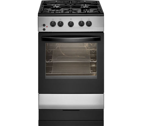 ESSENTIALS CFSGSV17 50 cm Gas Cooker - Silver & Black