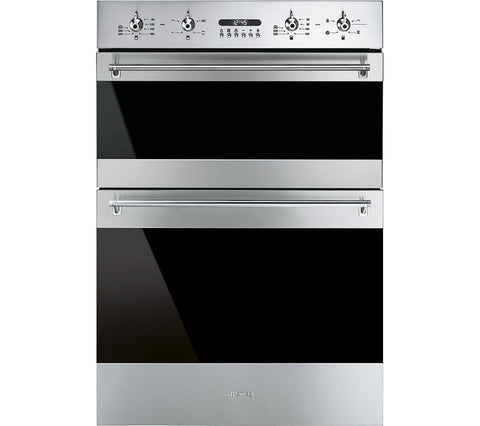 Smeg DOSF634X Classic Multifunction Double Oven - Stainless Steel & Eclipse Glass