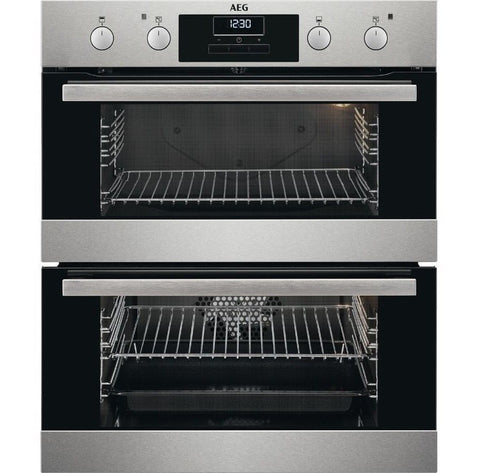 AEG DUB331110M Electric Built-under Double Oven - Stainless Steel
