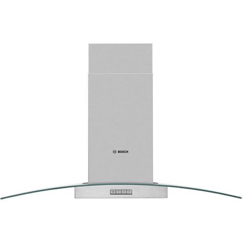Bosch Serie 2 DWA094W51B Extractor Chimney Hood with glass canopy - brushed steel