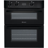HOTPOINT UH53K Electric Built-under Double Oven - Black