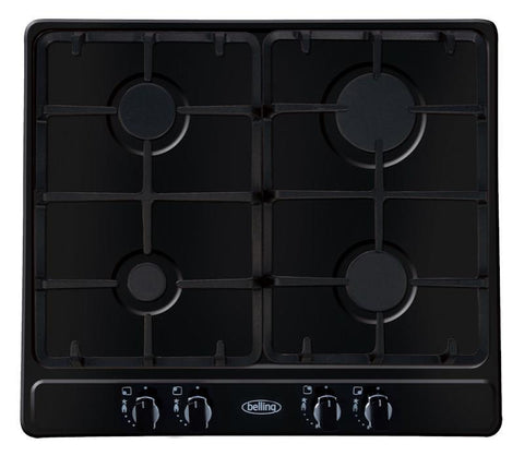 BELLING GHU60GC 60cm Gas Hob - Black - 444449499
