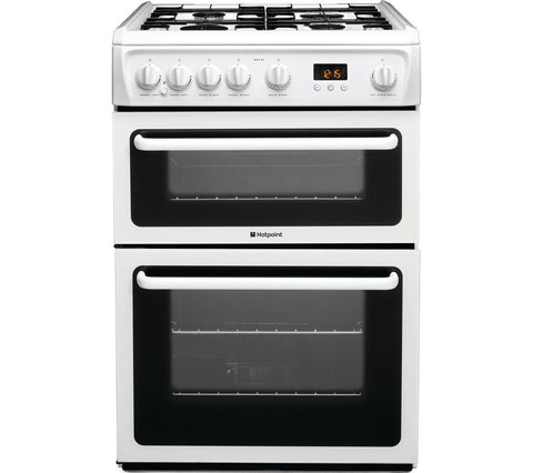 Hotpoint HAG60P - 60cm Gas Cooker - White