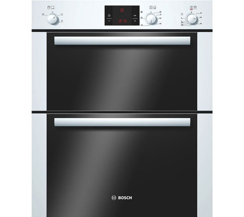 BOSCH HBN13B221B Electric Built-under Double Oven - White