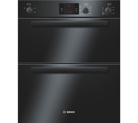 BOSCH HBN13B261B Serie 6 Electric Built-under Double Oven - Black