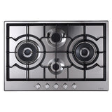 CDA HG7500SS 75cm gas hob - Stainless Steel