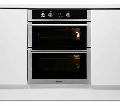 HOTPOINT Class 4 DU4541JCIX Electric Built-under Double Oven - Stainless Steel