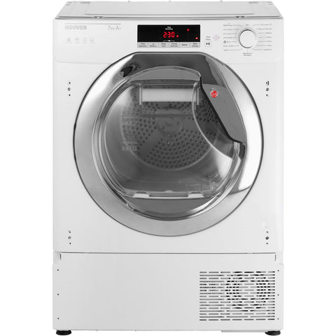 Hoover HTDBWH7A1TCE-80 - 7kg Integrated Heat Pump Condenser Dryer - White