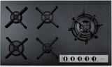 CDA HVG96BL Gas on Glass 87cm Hob - Black Glass