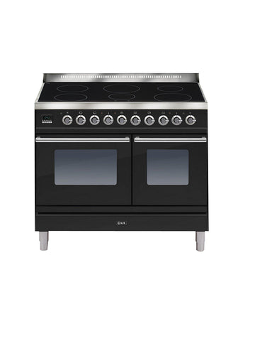 ILVE PDWI100E3 Roma Freestanding Induction Range Cooker Gloss Black 6 Hob 100cm