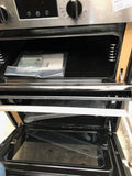 INDESIT Aria IDU 6340 BL Electric Built-under Double Oven Black Stainless Steel