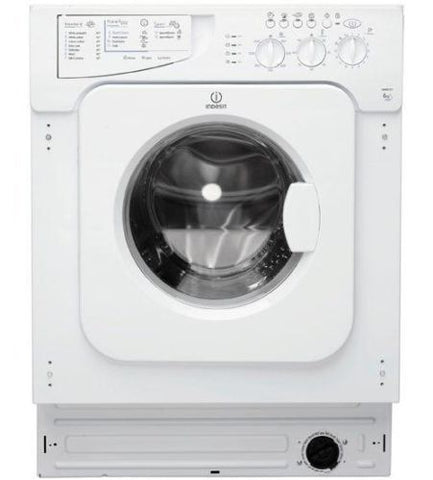 INDESIT IWME127 Integrated Washing Machine - White