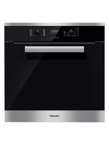 Miele H2661-1B Built-In Multifunction Single Oven, Brushed Steel