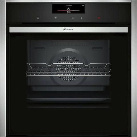 NEFF B58CT68H0B N90 Slide&Hide™ Built In 60cm A Electric Single Oven Stainless