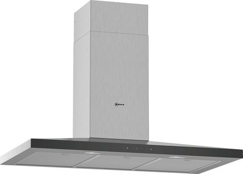 NEFF D94QFM1N0B N50 Built In 90cm 3 Speeds A Chimney Cooker Hood Stainless touch