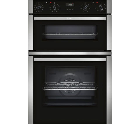 NEFF N 50 U1ACI5HN0B - Electric Double Oven - Stainless Steel