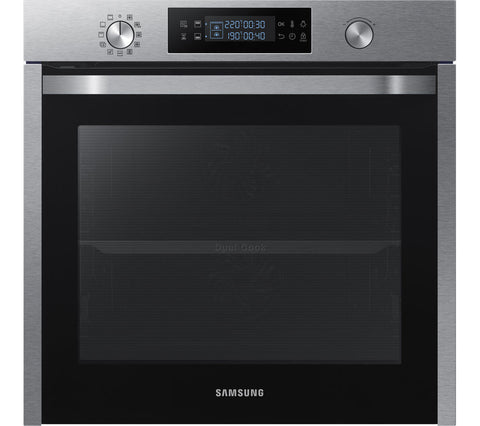 SAMSUNG Dual Cook NV75K5541 Electric Built-under Oven - Stainless Steel