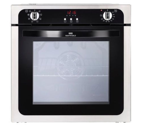 NEW WORLD NW602MF STA Electric Oven - Black & Stainless Steel - 444444673