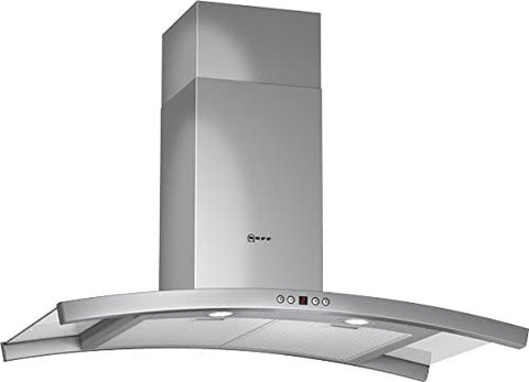Neff D89D55N1GB Series 3 Curved 90cm Chimney Hood in Stainless steel