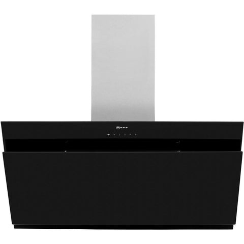 Neff D95IHM1S0B 90cm Angled Glass Chimney Hood in Black
