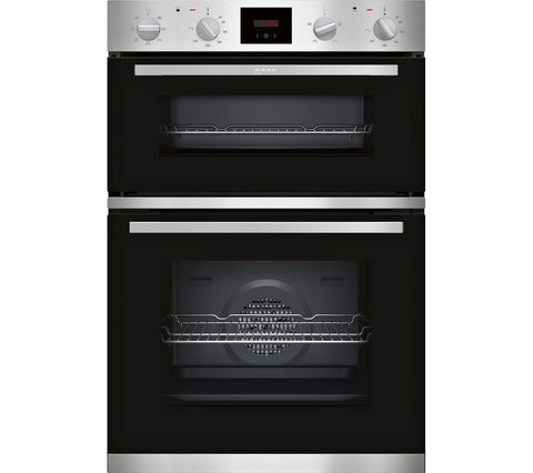 Neff U1HCC0AN0B 5 Function Built-in Double Oven With LCD Display Stainless Steel
