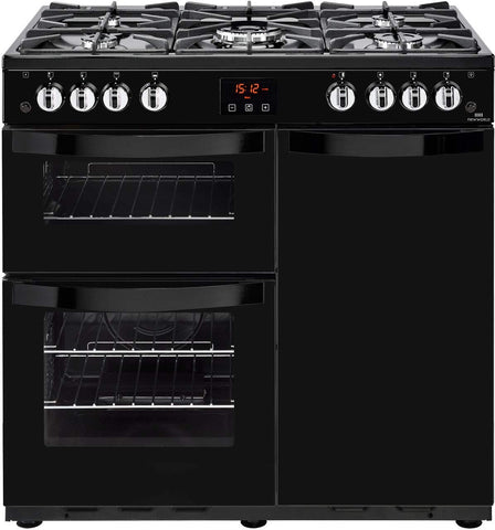 Newworld Vision 90G Freestanding B/A Rated Gas Range Cooker Black 90cm 444444209