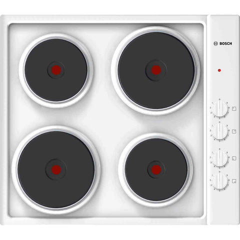 BOSCH PEE682CA1 Electric Solid Plate Hob - White