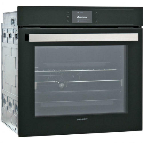 Sharp KS-70T50BHH Multifunctional Built In Electric Black Single Oven