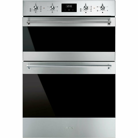 Smeg DOSF6300X Classic Built In 60cm A/B Electric Double Oven Stainless Steel