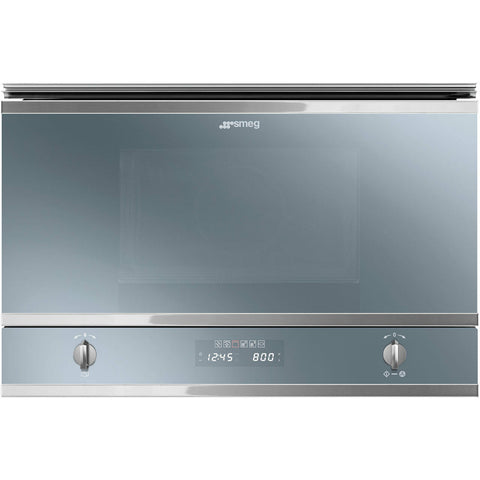 Smeg MP422S Classic 850 Watt Microwave Built In Silver Glass