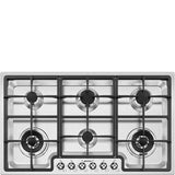 SMEG Classic PGF96 Gas Hob Stainless Steel LPG Convertible Hob Number 6 90CM