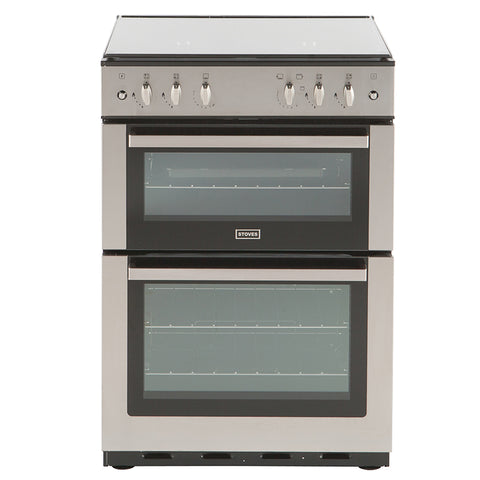 Stoves SG60DO Gas Cooker Double Cavity in Stainless 444442629