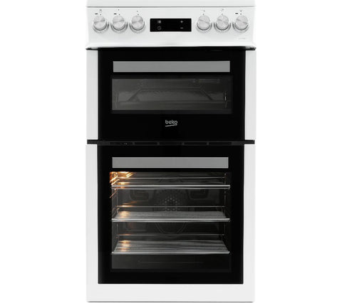 BEKO Pro XDVC5XNTW 50cm Electric Cooker - White