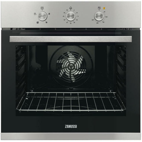 Zanussi ZOB31471XK Built in Electric Single Oven Stainless Steel Multifunction
