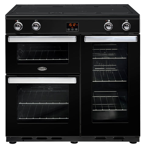 BELLING Classic CR90Ei 90CM Electric Induction Range Cooker Black - 444443730
