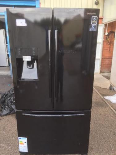 Samsung G Series Rfg23uebp American Fridge Freezer Black