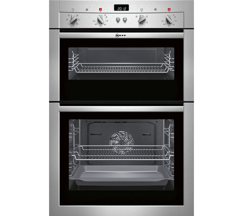 Neff U14M42N3GB Double Electric Oven, Stainless Steel