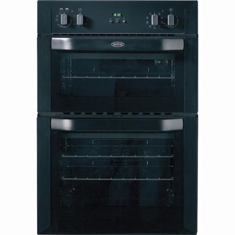Belling Bi90mf Double Oven W60cm L90cm fan Assisted Black Stainless
