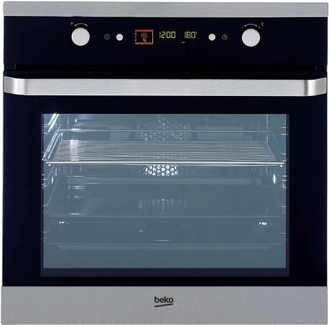 Beko OIM25503 Black Glass Built In Electric Single Oven