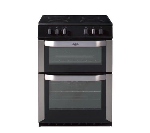 Belling FSE60DO 60cm Freestanding Double Oven Electric Cooker - Stainless Steel