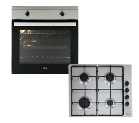 BEKO 2 in 1 OSF21133SX Built-in Electric Oven & Gas Hob Stainless/Steel