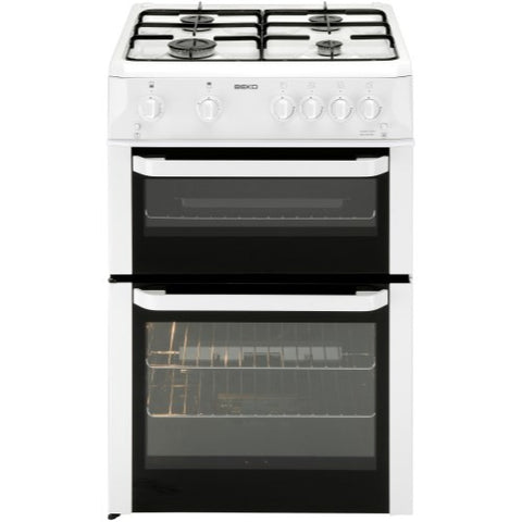 Beko BDG682WP 60cm White Free Standing Double Cavity Gas Cooker