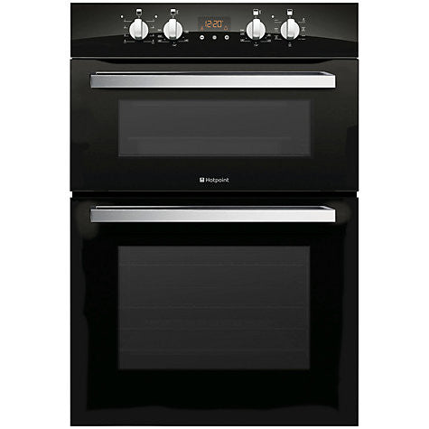 Hotpoint DCL 08 CB Signature Double Electric Oven, Black Glass