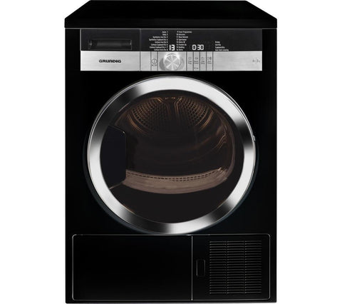 GRUNDIG GTN38250HGCB Heat Pump Tumble Dryer - Black